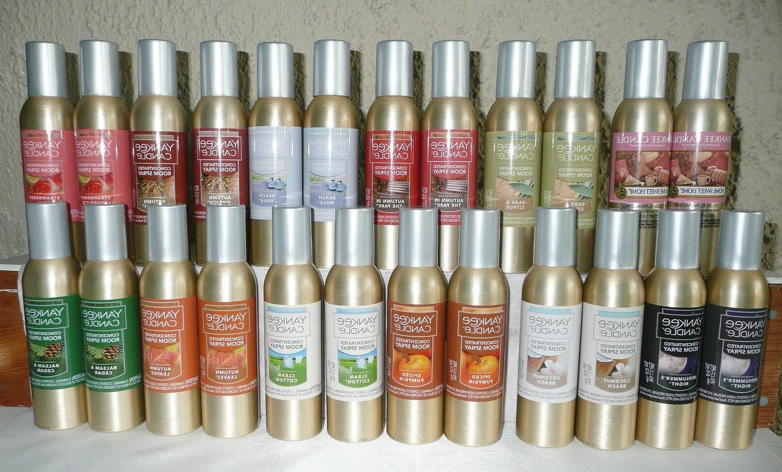Lot NEW YANKEE CANDLE Concentrated Spray - You