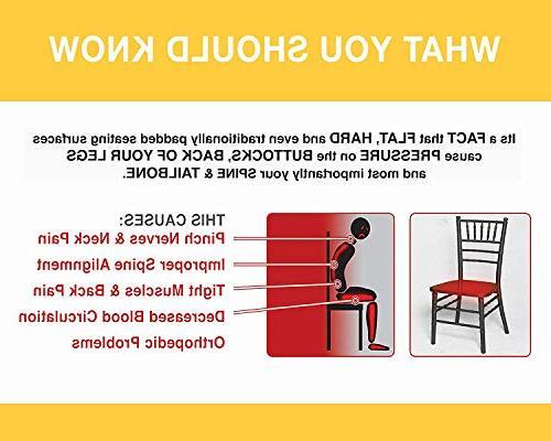 MODREACH Memory Foam Seat Cushion for Car and