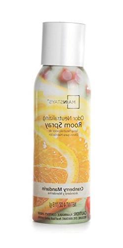 Mainstays Odor Neutralizing Room Spray, Cranberry Mandarin,