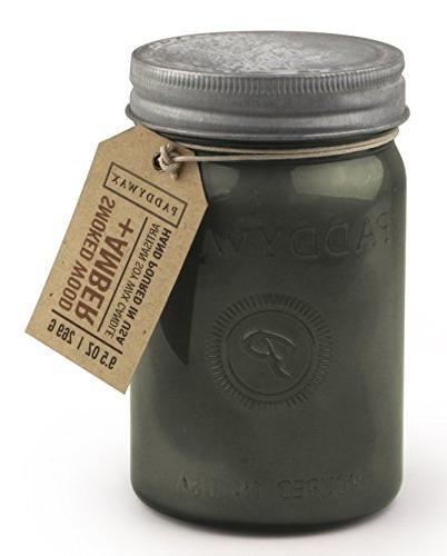 Paddywax Relish 9.5 oz Smoked Wood and Amber Collection Larg