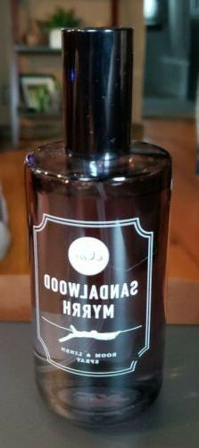DW Home Room & Linen Spray SANDALWOOD MYRRH 4.1 Oz Glass Bot
