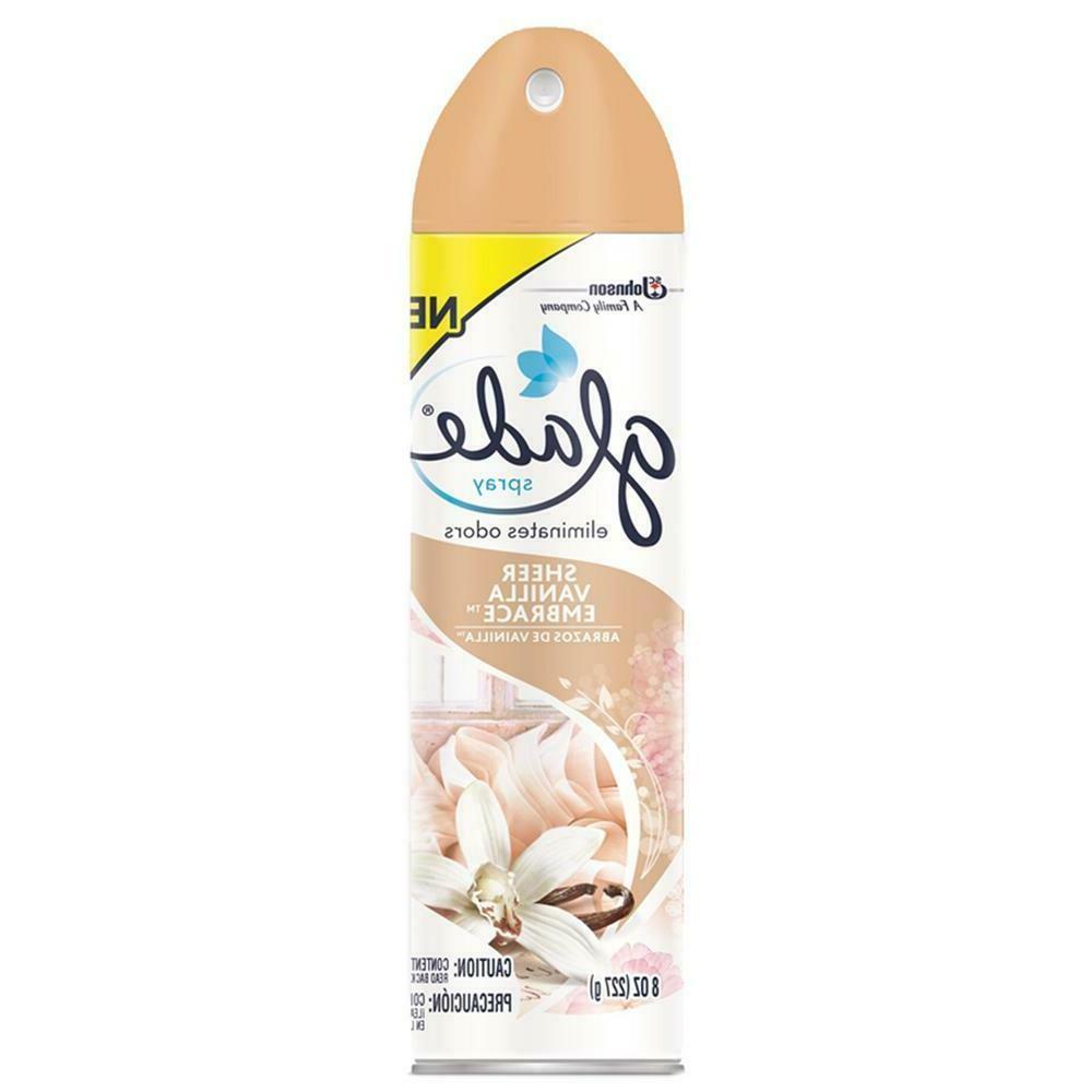 Glade Spray Freshener, Sheer Vanilla 8oz