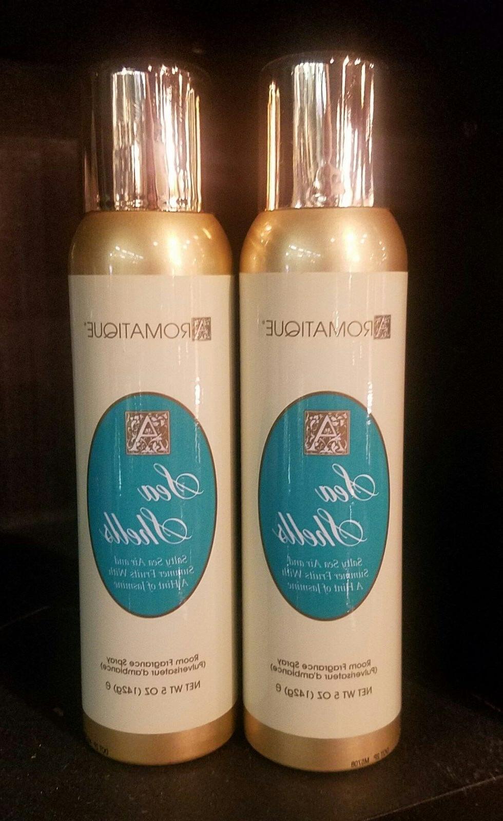sea shells room fragrance spray set of