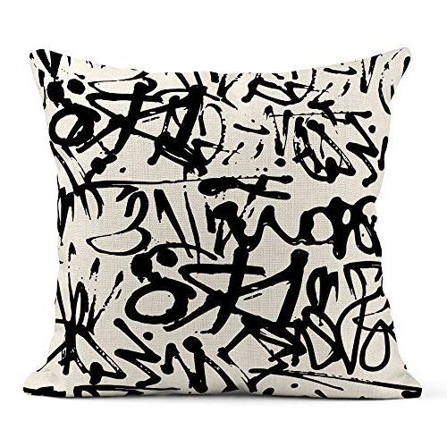 throw pillow cover print linen