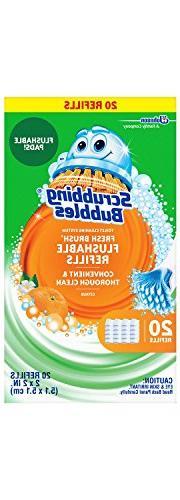 Scrubbing Bubbles Toilet Fresh Brush Flushable Refills, Citr