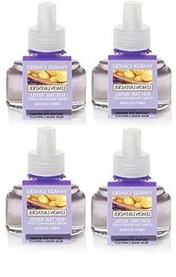 Yankee Candle 4 Pack Lemon lavender ScentPlug Refill 0.6 Oz.