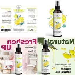 lemon zest linen and room spray natural