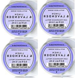 Bath and Body Works 4 Pack Linen and Lavender Scentportable