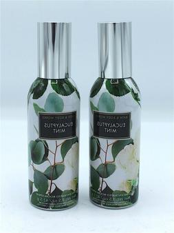 Lot x2 Bath and Body Works Eucalyptus Mint Home Room Spray A