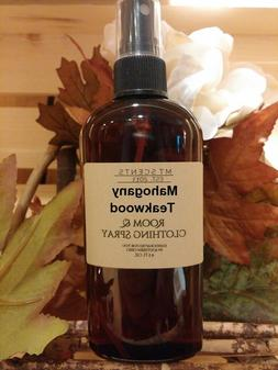 MAHOGANY TEAKWOOD SCENTED ROOM & CLOTHING SPRAY HANDCRAFTED