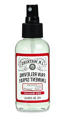 J.R. Watkins Relieving Liniment Spray, Menthol & Camphor, 4