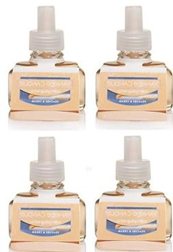 Yankee Candle 4 Pack Peaches & Cream ScentPlug Refill 0.6 Oz