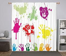 Polyester Window Drapes Kitchen Curtains,Graffiti,Street Wal