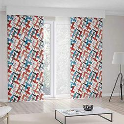iPrint Psychedelic Decor Decorations Curtains,Grunge Graffit