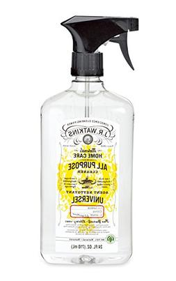 J.R. Watkins Natural All Purpose Cleaner, Lemon, 24 oz, Pack