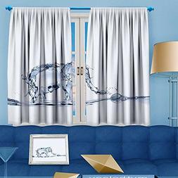 VROSELV Room Darkening Window Curtains,an elephant made of w
