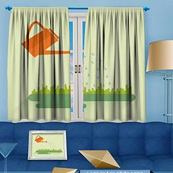 VROSELV Room Darkening Window Curtains,flat color water can