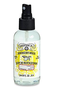 J.R. Watkins Naturally Derived Room Freshener, Lemon, 4 Ounc