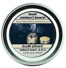 Premium 100% All Natural Soy Candle - 2 oz Tin- Scent- Vanil
