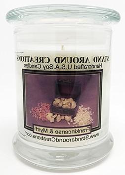 Premium 100% Soy Candle - 12 oz. Status Jar - Frankincense A