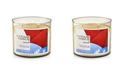 Lot of 2 Bath & Body Works Sun Tan 3 Wick Scented Candles 14