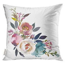 Emvency Throw Pillow Cover Navy Anemone Dusk Blue Pale Pink