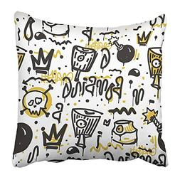 Emvency Throw Pillow Covers Print Original Youth Patterns on