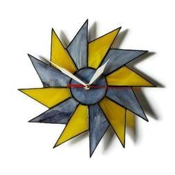 ZangerGlass Mid Century Theme Stained Glass Starburst Wall C