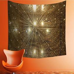 VROSELV Wall Tapestry Upward of Bathtub Under Spray of Hot W