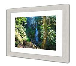 Ashley Framed Prints Beautiful Waterfall in Vancouver Island