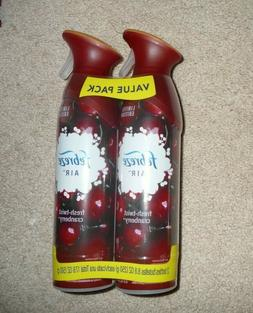 X2 Lot Febreze Air Freshener FRESH-TWIST CRANBERRY Air Effec