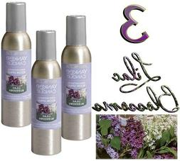 YANKEE CANDLE X3 LILAC BLOSSOMS 1.5oz SCENTED ROOM SPRAY NEW